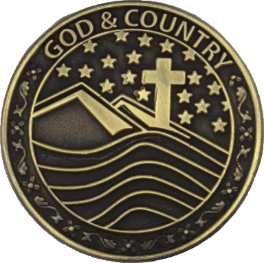 God and My Country medal